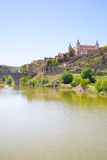 Toledo and Tagus river Stock Photos