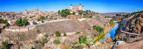 Toledo and Tejo River, Castilla, Spain Stock Photography