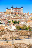 Toledo and Tejo River, Castilla, Spain Stock Photos