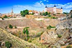 Toledo and Tejo River, Castilla, Spain Stock Image