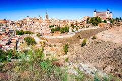 Toledo and Tejo River, Castilla, Spain Royalty Free Stock Image