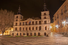 Toledo - town hall at night Stock Image