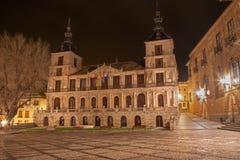 Toledo - town hall at night Stock Image