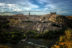 Toledo- und Tajo-Fluss, Spanien Lizenzfreie Stockfotografie