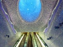 Toledo Underground-Station in Neapel, Italien stockfotos