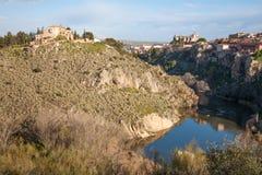 Toledo - valley of Tajo river Royalty Free Stock Photo