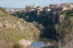 Toledo - valley of Tajo river Stock Images