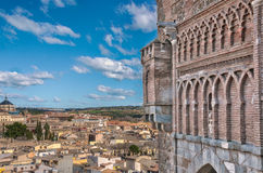 Toledo view from  the puerta del sol,  one of the city gates Stock Photography