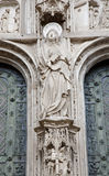 Toledo -  Virgin Mary statue from portal of cathedral Royalty Free Stock Photography