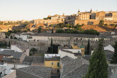 Toledo & x28; Spain& x29;: cityscape Arkivbild
