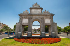 Toledos gate or Puerta de Toledoat in Madrid Royalty Free Stock Image