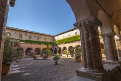 Tolentino - Church of San Nicola, cloister Stock Photography