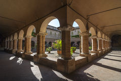 Tolentino - Church of San Nicola, cloister Royalty Free Stock Image