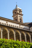 Tolentino - Church of San Nicola, cloister Stock Photo