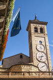 Tolentino, clock tower Royalty Free Stock Photography