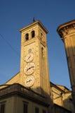 Tolentino, la torre degli orologi fotografia stock libera da diritti