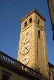 Tolentino, la torre degli orologi fotografie stock