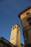 Tolentino, la torre degli orologi fotografia stock