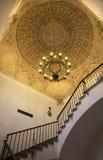 Toleod - soffitto delle scale in monastero di St John dei re nello stile mudejar Fotografia Stock
