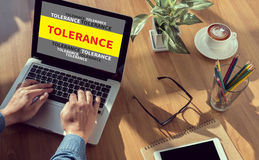 TOLERANCE CONCEPT Royalty Free Stock Image