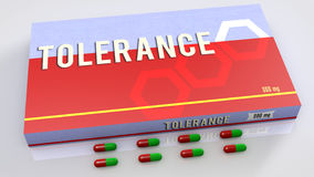 Tolerance medication Stock Photography