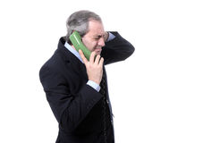 Tolerant businessman on the phone Stock Images