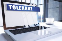 Toleranz stock illustration