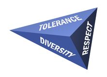 Toleranz und Respekt vektor abbildung