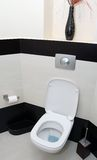 Toletta moderna, WC Fotografie Stock Libere da Diritti