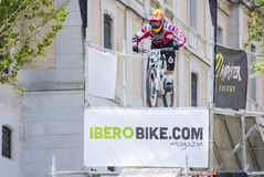 Toletvm Urban DH competition of mountain bike Stock Images