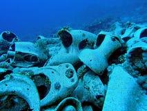 Toliet bowls from Yolanda shipwreck Royalty Free Stock Photos