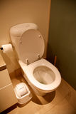 Toliet en pieza del cuarto de baño de una casa Foto de archivo