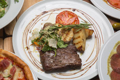 Toliet steak in the restaurant Stock Photos