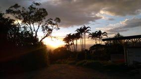Tolima-icepeak Vulkan-Feuer skyes lizenzfreie stockfotografie