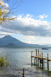 Toliman volcano, Lake Atitlan, Guatemala Royalty Free Stock Photography