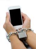 Tolk met smartphones. Royalty-vrije Stock Afbeelding