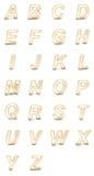 tolkning 3D av det genomskinliga alfabetet. Royaltyfri Bild