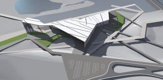 tolkning 3D av byggnad Arkivfoton