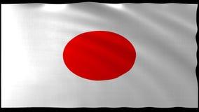 tolkning 3d av den Japan flaggadesignen med den trevliga vågen Royaltyfria Foton