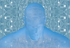 tolkning 3D av det mänskliga huvudet Fotografering för Bildbyråer