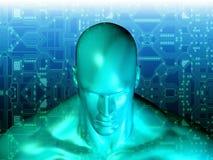 tolkning 3D av det mänskliga huvudet Royaltyfri Bild