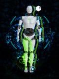 tolkning 3D av det manliga robotteknologibegreppet Royaltyfri Foto