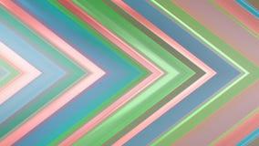 tolkning 3d av en abstrakt vinkelformig sammansättning som består av paneler och linjer Royaltyfri Bild