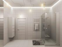tolkning 3D av en badruminredesign för barn Arkivbilder