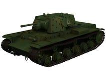 tolkning 3d av en behållare för sovjet KV1B Arkivbild