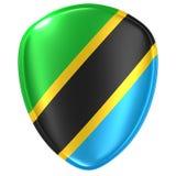 tolkning 3d av en Förenade republiken Tanzania flaggasymbol royaltyfri illustrationer