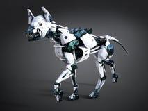 tolkning 3D av en futuristisk robothund royaltyfri illustrationer