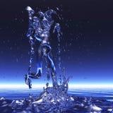 tolkning 3D av en kvinna i en dusch