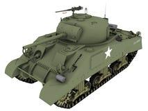 tolkning 3d av en M4A4 Sherman Tank Royaltyfria Foton