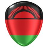 tolkning 3d av en Republiken Malawi flaggasymbol stock illustrationer